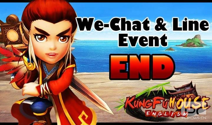 We-Chat & Line Event was ended.
