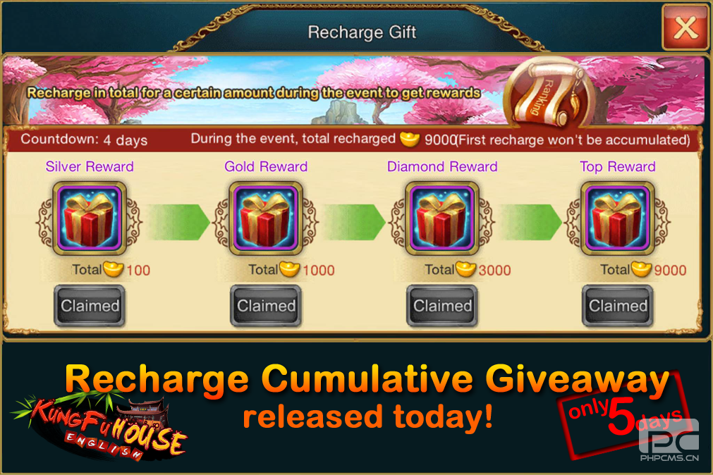 Recharge Cumulative Giveaway