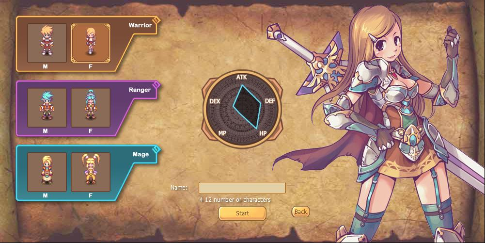 Character Design Generator Game : Serenia fantasy d real time combat browser game